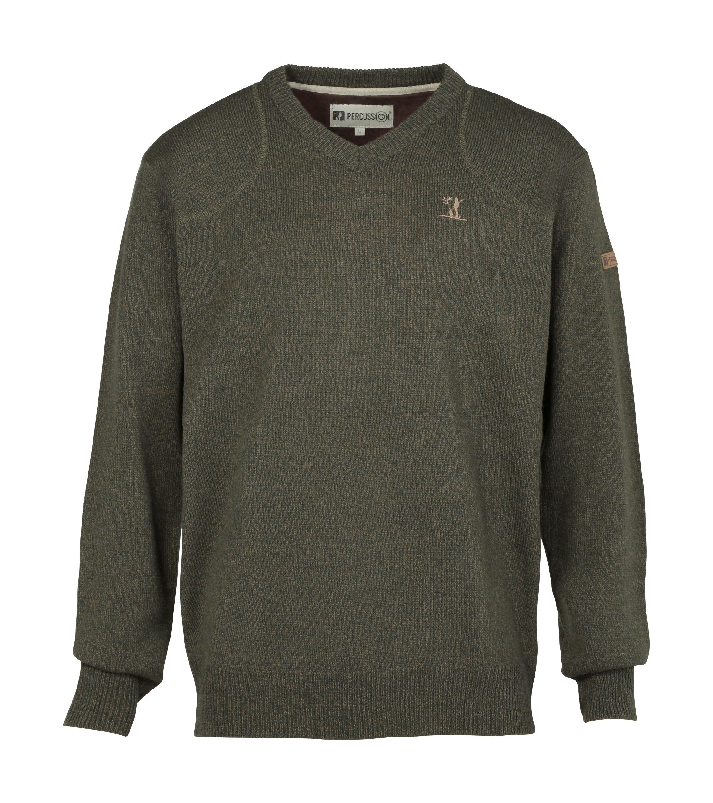 Percussion V-Neck Sweatshirt Olive