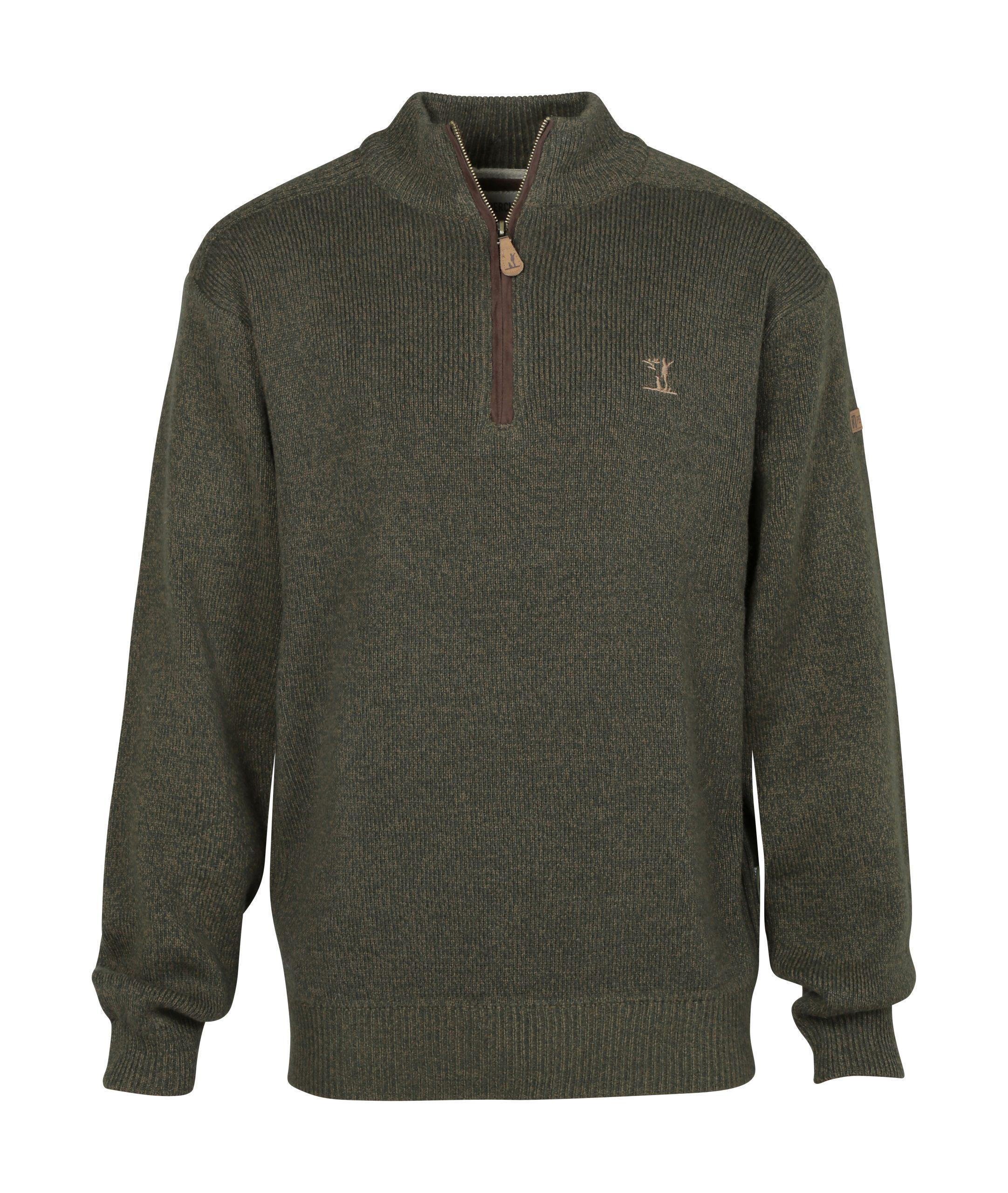 Percussion Zipped Sweatshirt Olive