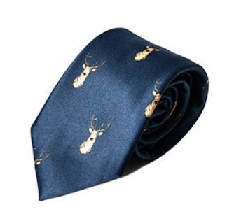 Carabou Country Tie - Navy Stag