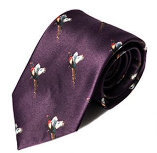 Carabou Country Tie - Burgandy Pheasant