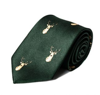 Carabou Country Tie - Olive Stag