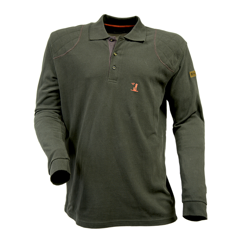 3d72769d Percussion Long Sleeved Polo Shirt Olive - Edinburgh Outdoor Wear