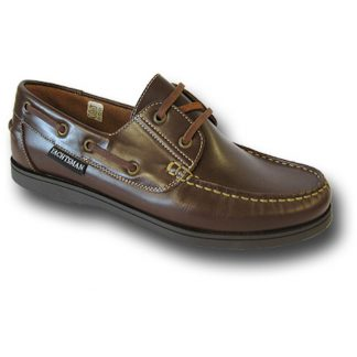 Yachtsman Mens Leather Deck Shoes Brown
