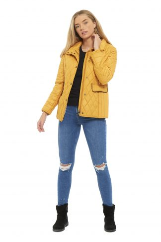 Arctic Storm Greenwich Quilted Jacket - Mustard