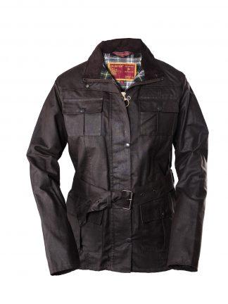 Ladies Belted Wax Jacket