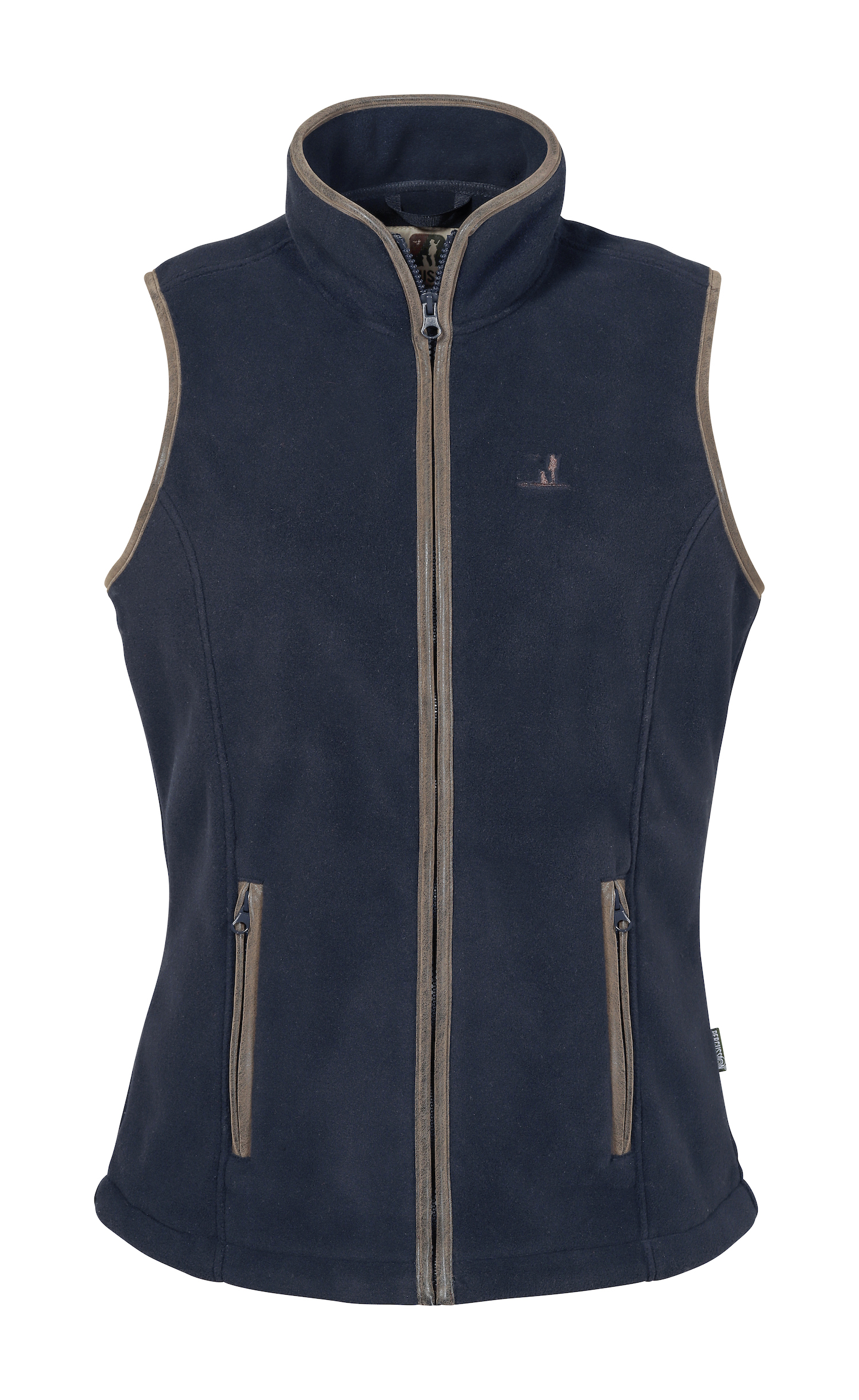 Percussion Ladies Scotland Fleece Gilet in Navy