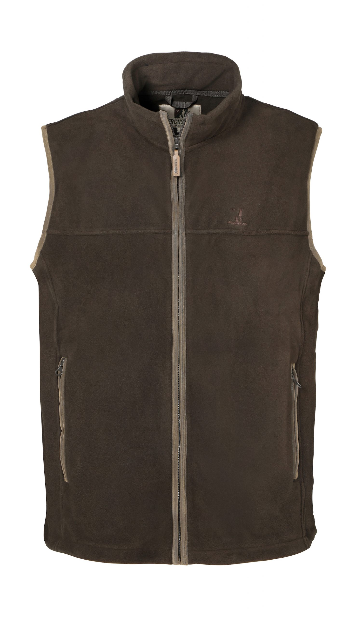 Percussion Scotland Fleece Gilet in Khaki