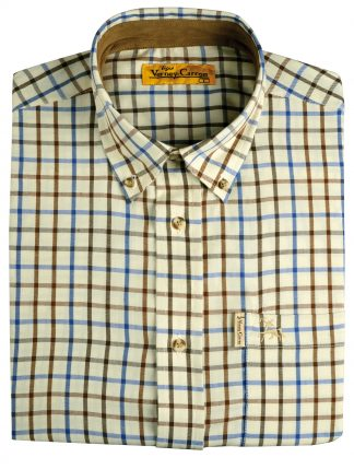 Verney-Carron Villemy Long Sleeve Shirt Brown/Navy