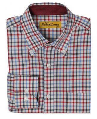 Verney-Carron Weekend Long Sleeve Shirt Red/Blue