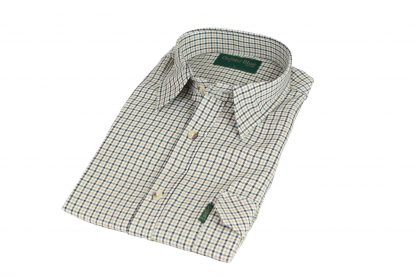 Oxford Blue Dogstooth Shirt - Navy