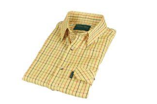 Oxford Blue Darwen Shirt - Mustard