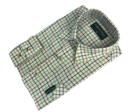 Oxford Blue Perth Shirt - Green
