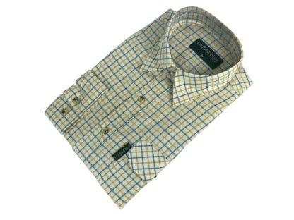 Oxford Blue Fiskar Shirt - Yellow