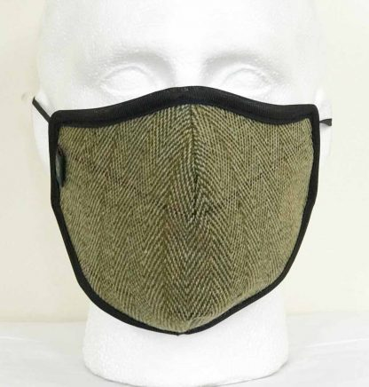 Country Tweed Face Mask - Oxford Blue