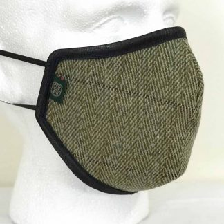 Oxford Blue Country Tweed Face Mask - Sage