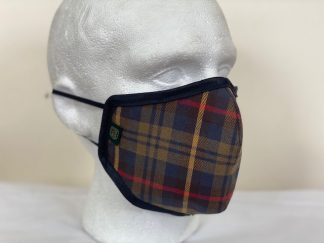 Oxford Blue Country Cotton Plaid Face Mask