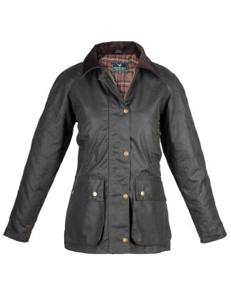 Ladies Wax Jacket Olive - Outdoor Country Clothing