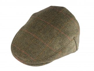 Derby Tweed Flat Cap Olive - Country Clothing