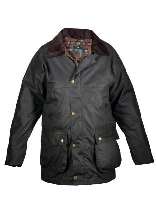 Mens Wax Jacket - Brown
