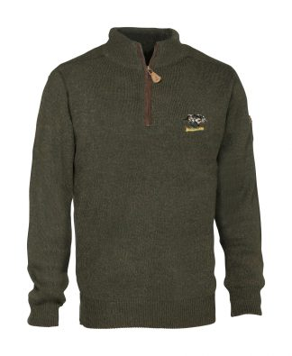 Percussion zippped sweatshirt with boar logo