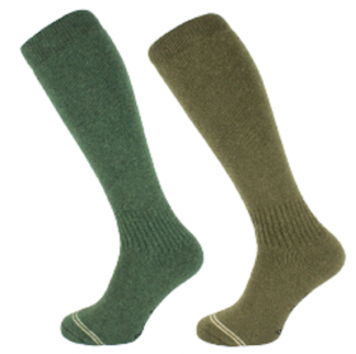 Oxford Blue Mens Knee High Lambswool Socks Khaki Green