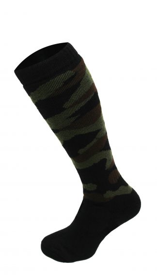 Oxford Blue Mens Knee High Camo Socks Black