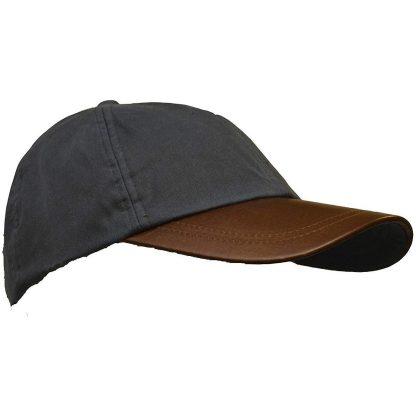 Leather Baseball Cap Navy