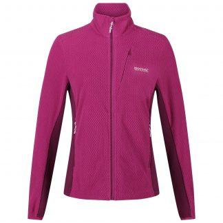Regatta Ladies Full Zip Fleece Cerise - Outdoor Clothing